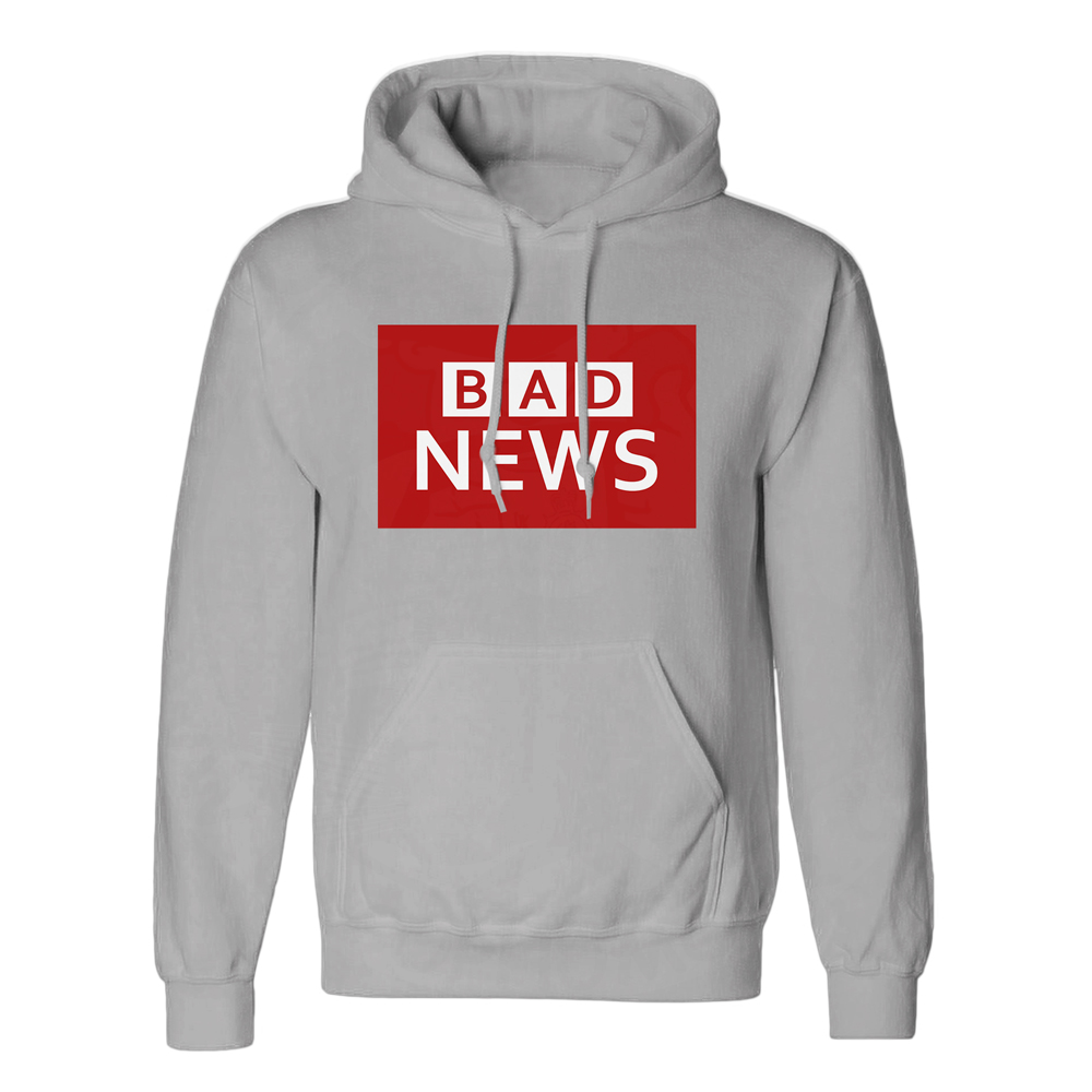 Unisex BAD NEWS Hoodie - Charcoal, 2XL