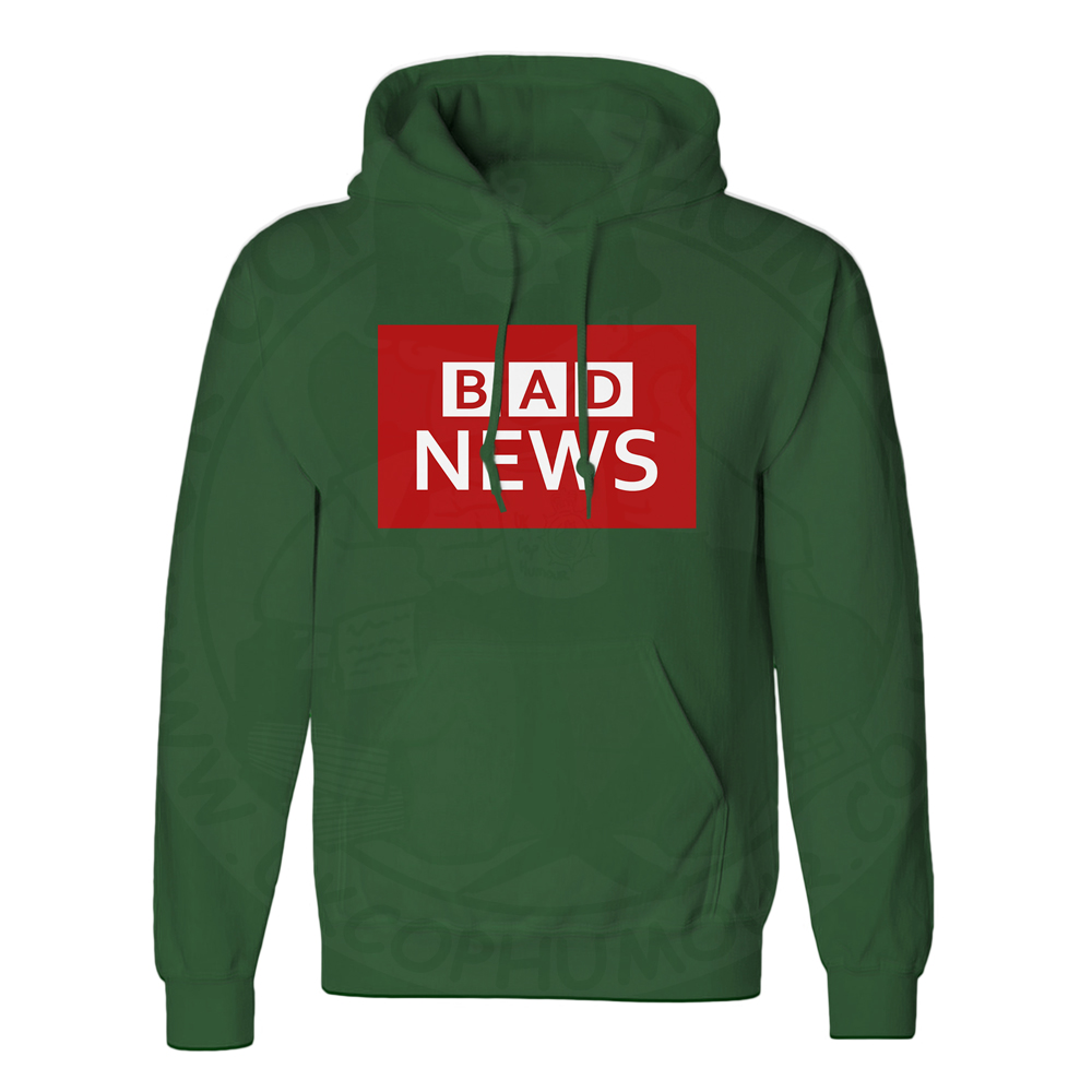 Unisex BAD NEWS Hoodie - Forest Green, 2XL