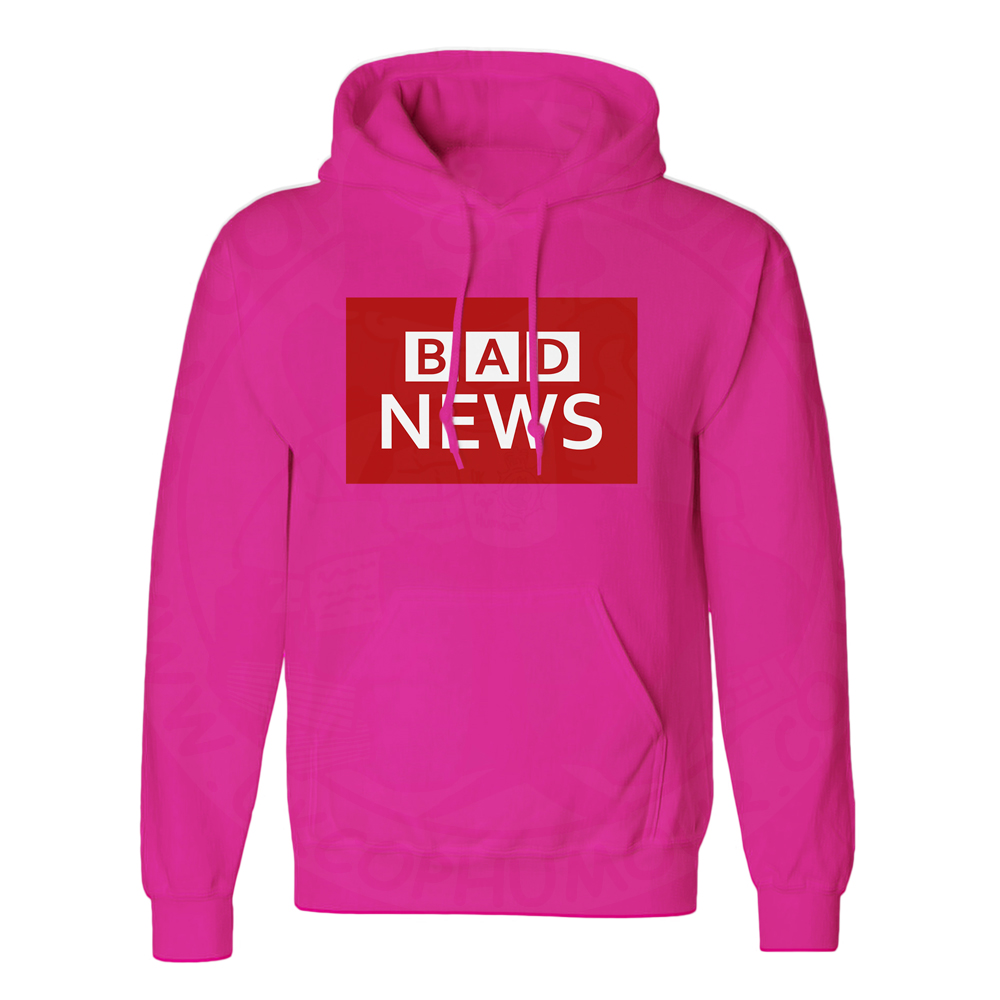 Unisex BAD NEWS Hoodie - Hot Pink, 2XL