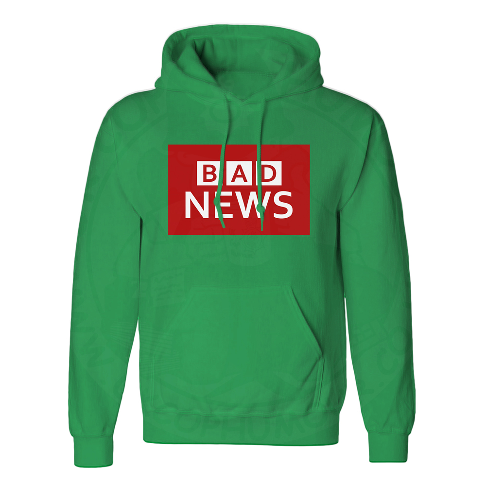 Unisex BAD NEWS Hoodie - Kelly Green, 2XL