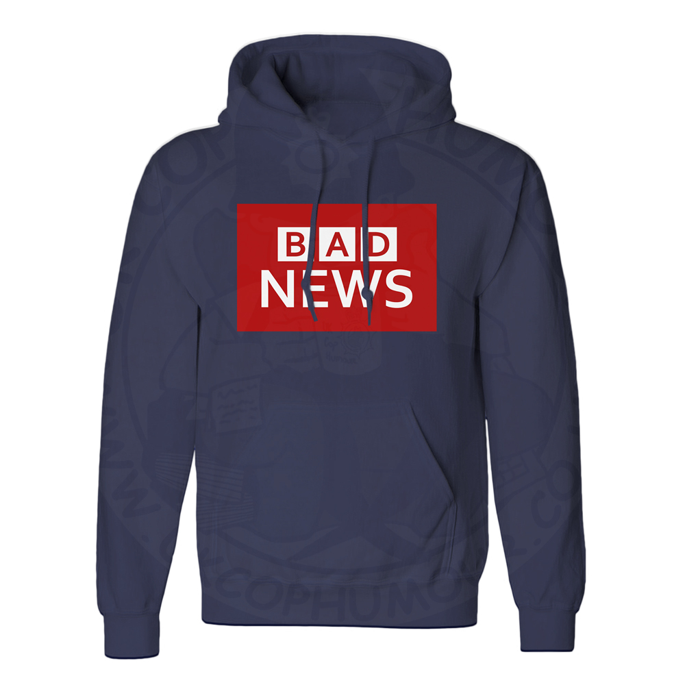 Unisex BAD NEWS Hoodie - Navy, 5XL