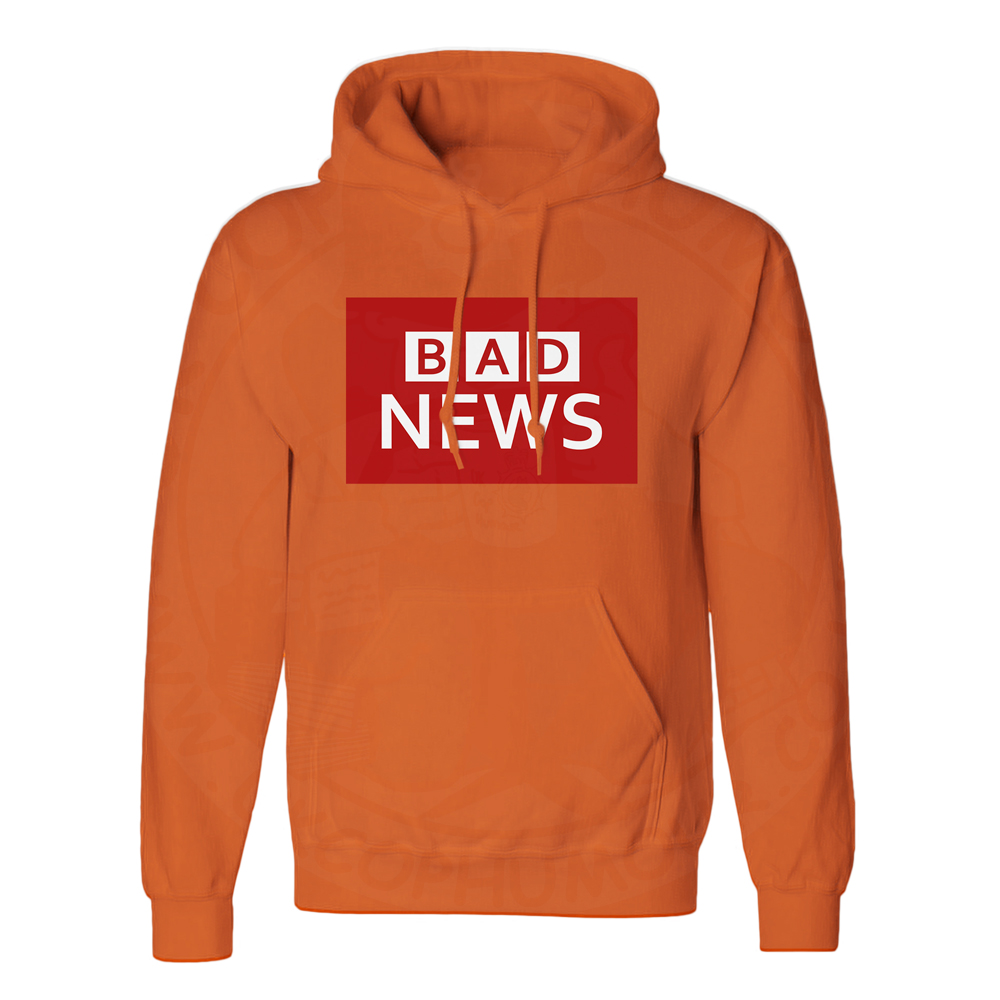 Unisex BAD NEWS Hoodie - Orange, 2XL