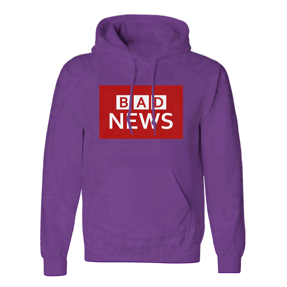 Unisex BAD NEWS Hoodie - Purple, 3XL