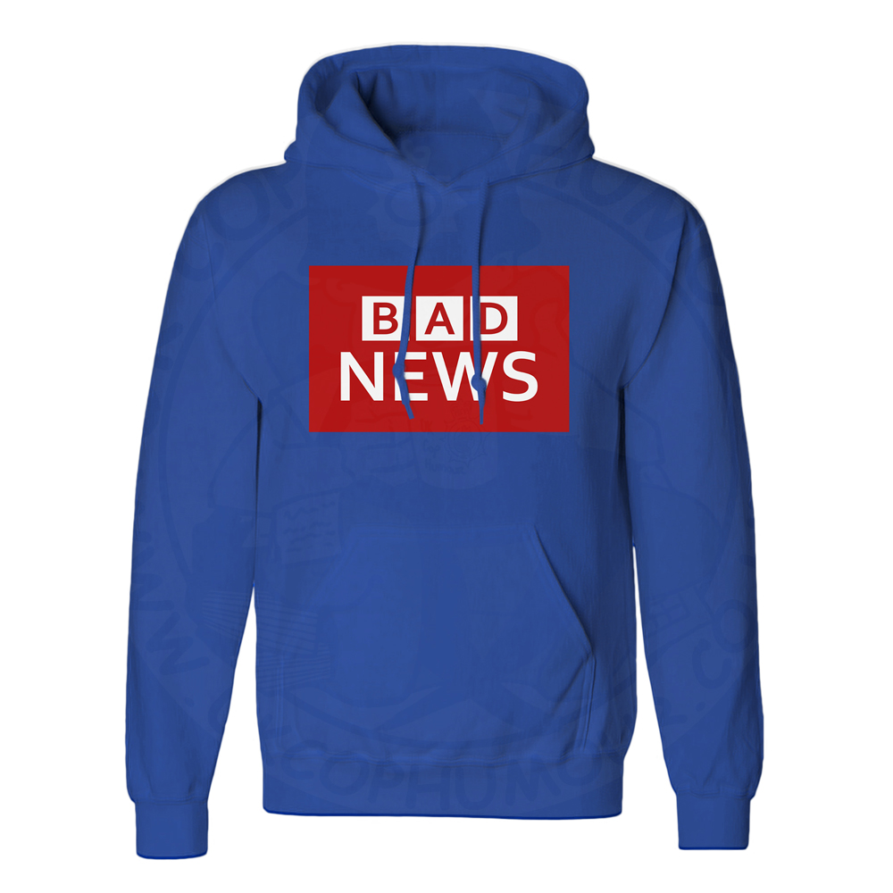 Unisex BAD NEWS Hoodie - Royal Blue, 3XL