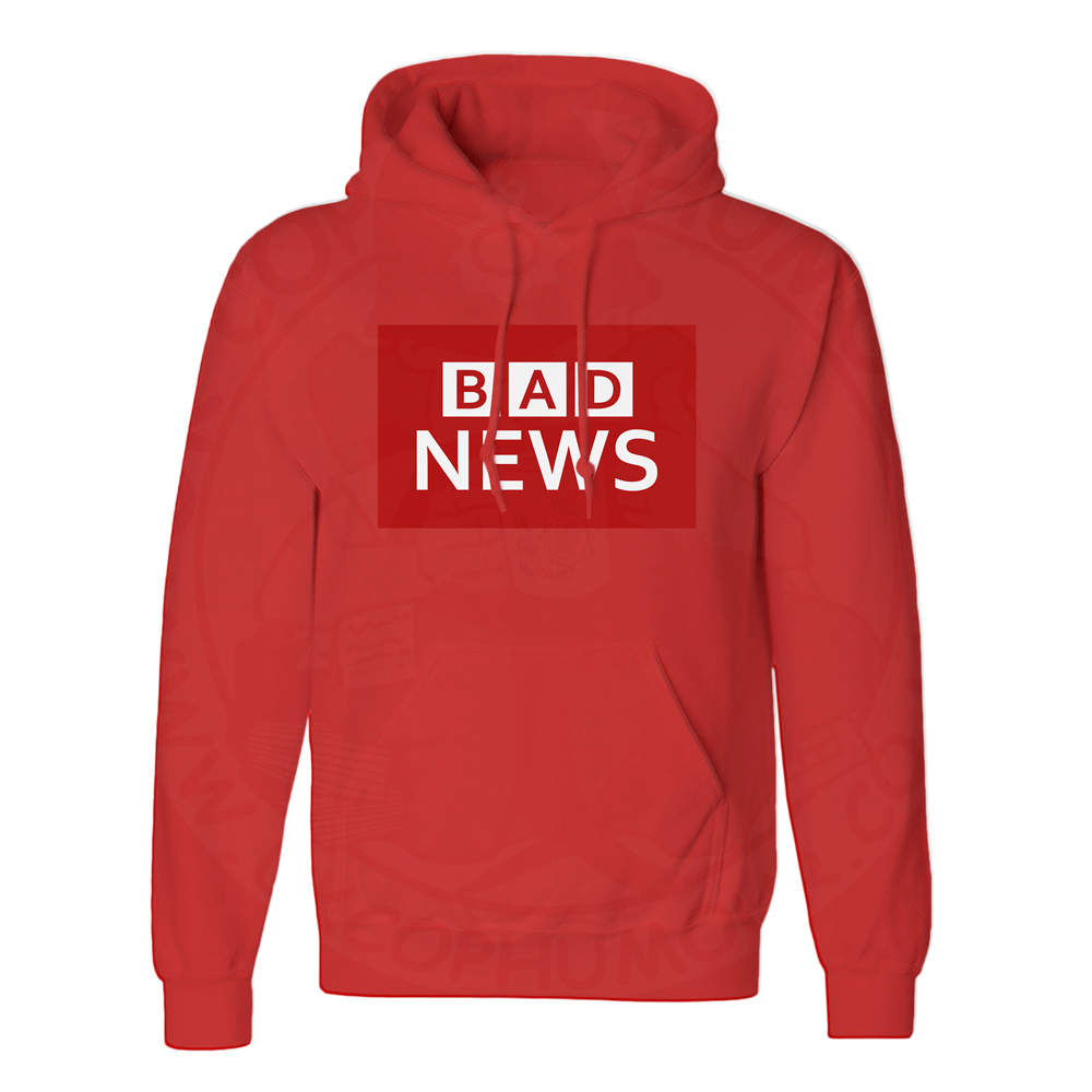 Unisex BAD NEWS Hoodie - Red, 3XL