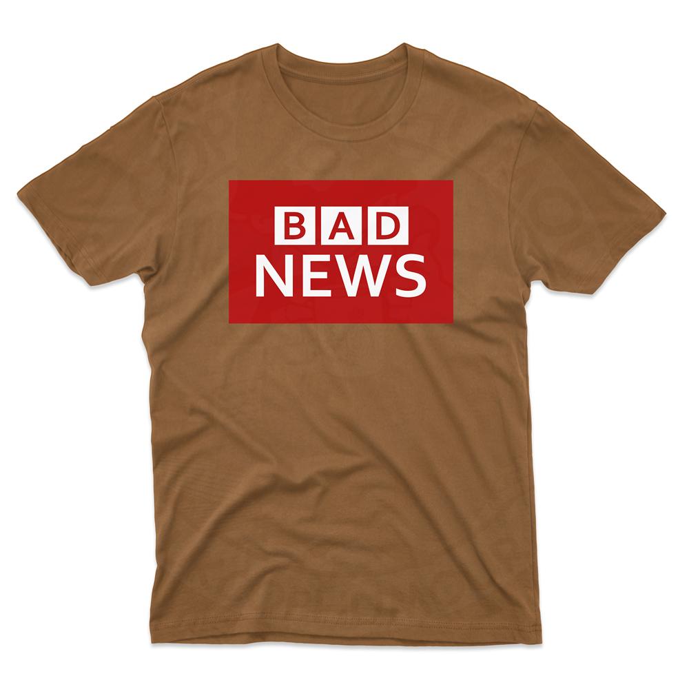 Mens BAD NEWS T-Shirt - Chestnut, 2XL