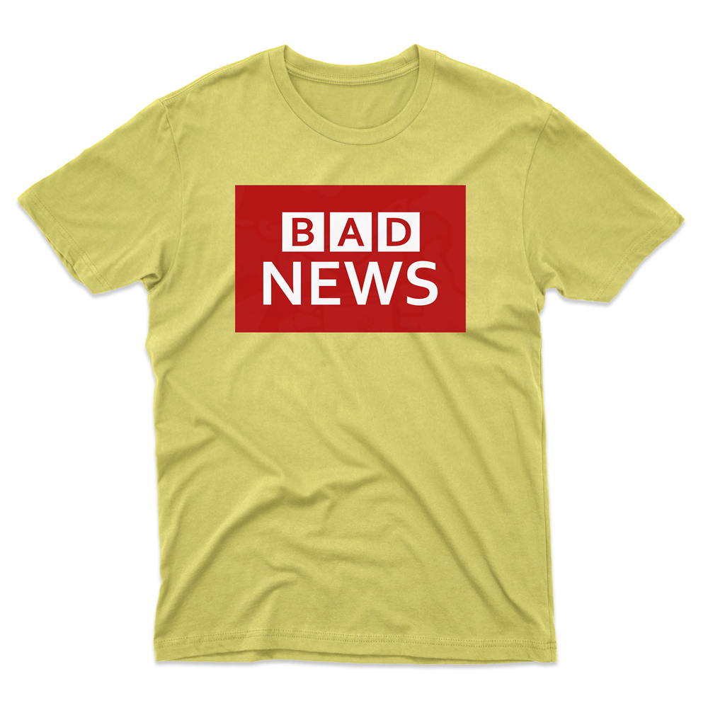 Mens BAD NEWS T-Shirt - Daisy, 2XL