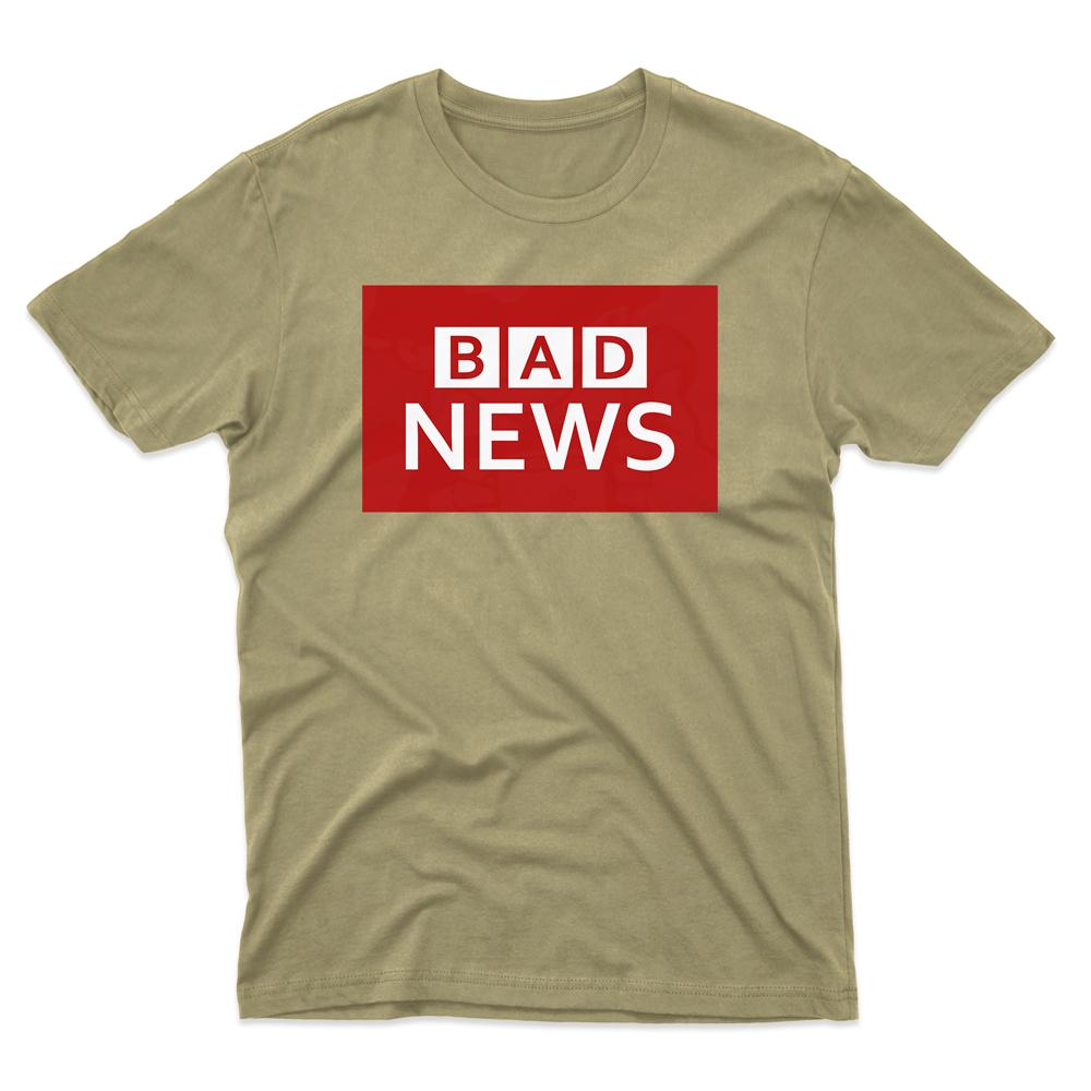 Mens BAD NEWS T-Shirt - Desert, 2XL