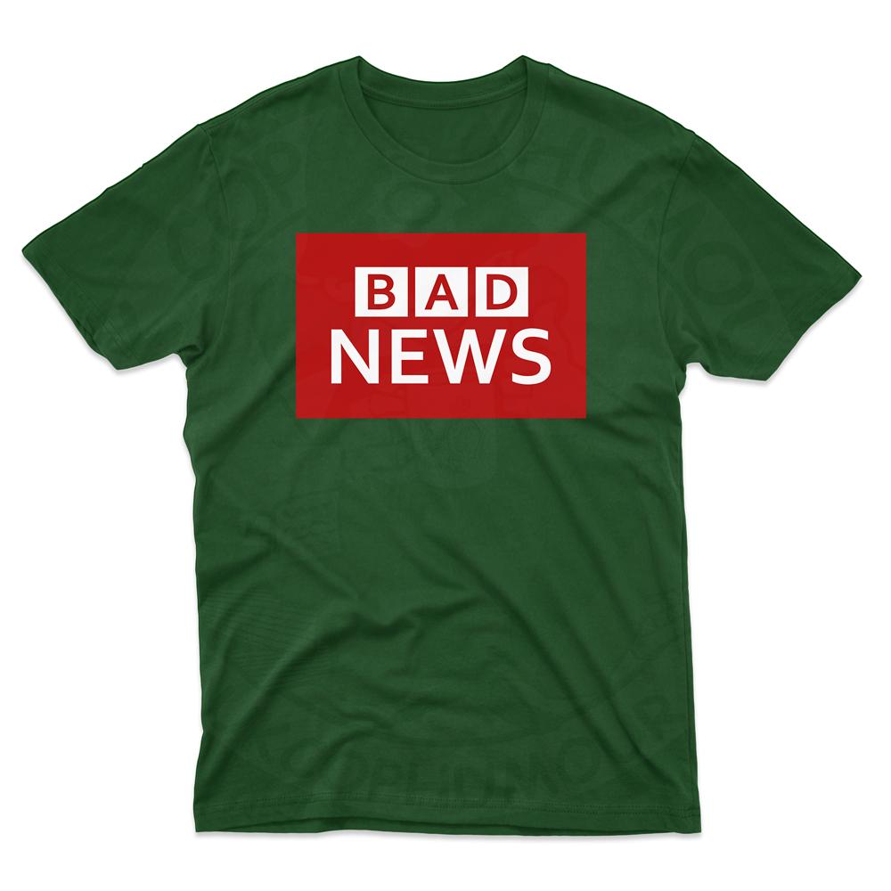 Mens BAD NEWS T-Shirt - Forest Green, 2XL