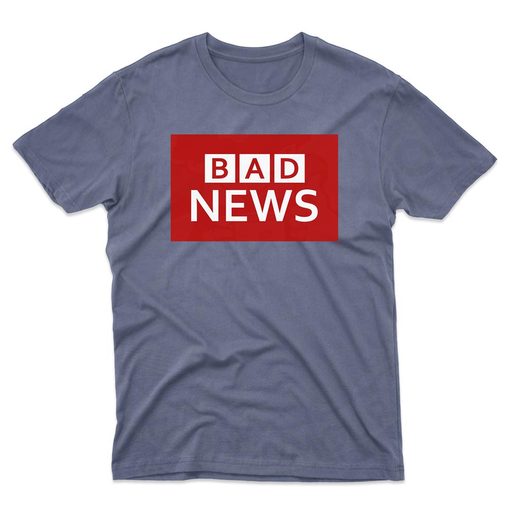 Mens BAD NEWS T-Shirt - Indigo Blue, 2XL