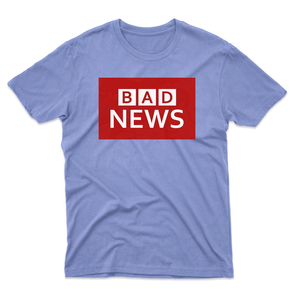 Mens BAD NEWS T-Shirt - Light Blue, 2XL