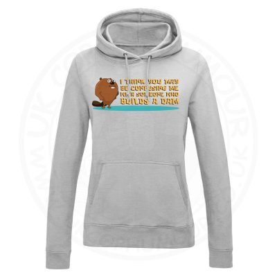 Ladies Builds A Dam Hoodie - Grey, 18