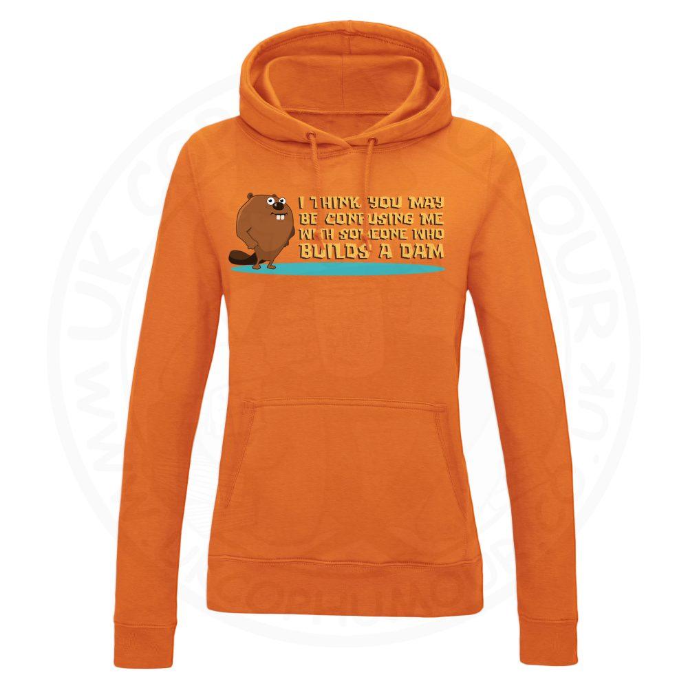 Ladies Builds A Dam Hoodie - Orange, 18