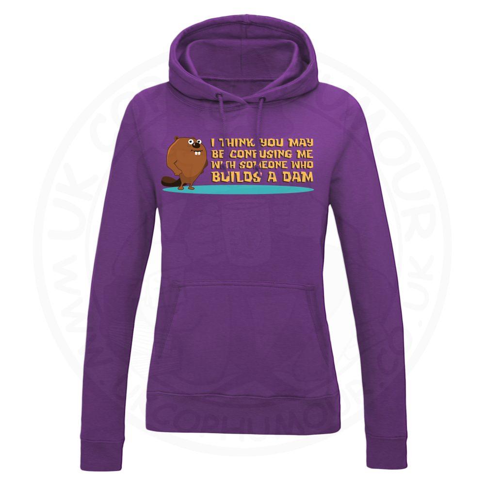 Ladies Builds A Dam Hoodie - Purple, 18