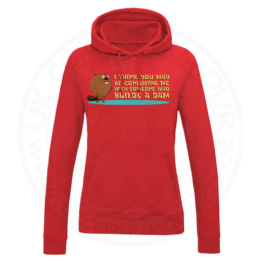 Ladies Builds A Dam Hoodie - Red, 18