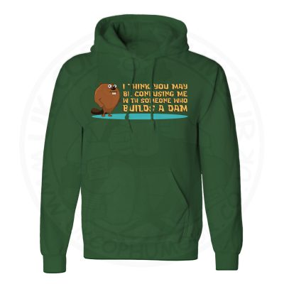 Unisex Builds A Dam Hoodie - Forest Green, 2XL