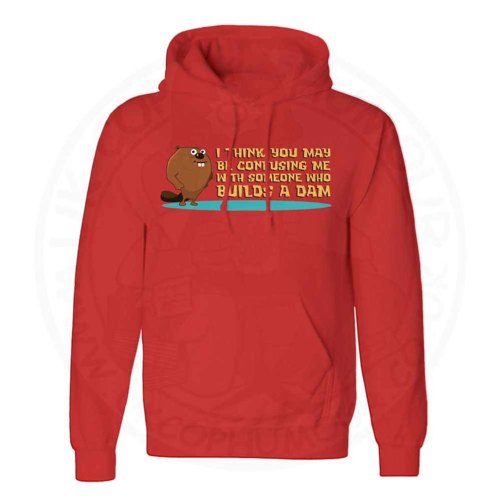 Unisex Builds A Dam Hoodie - Red, 3XL