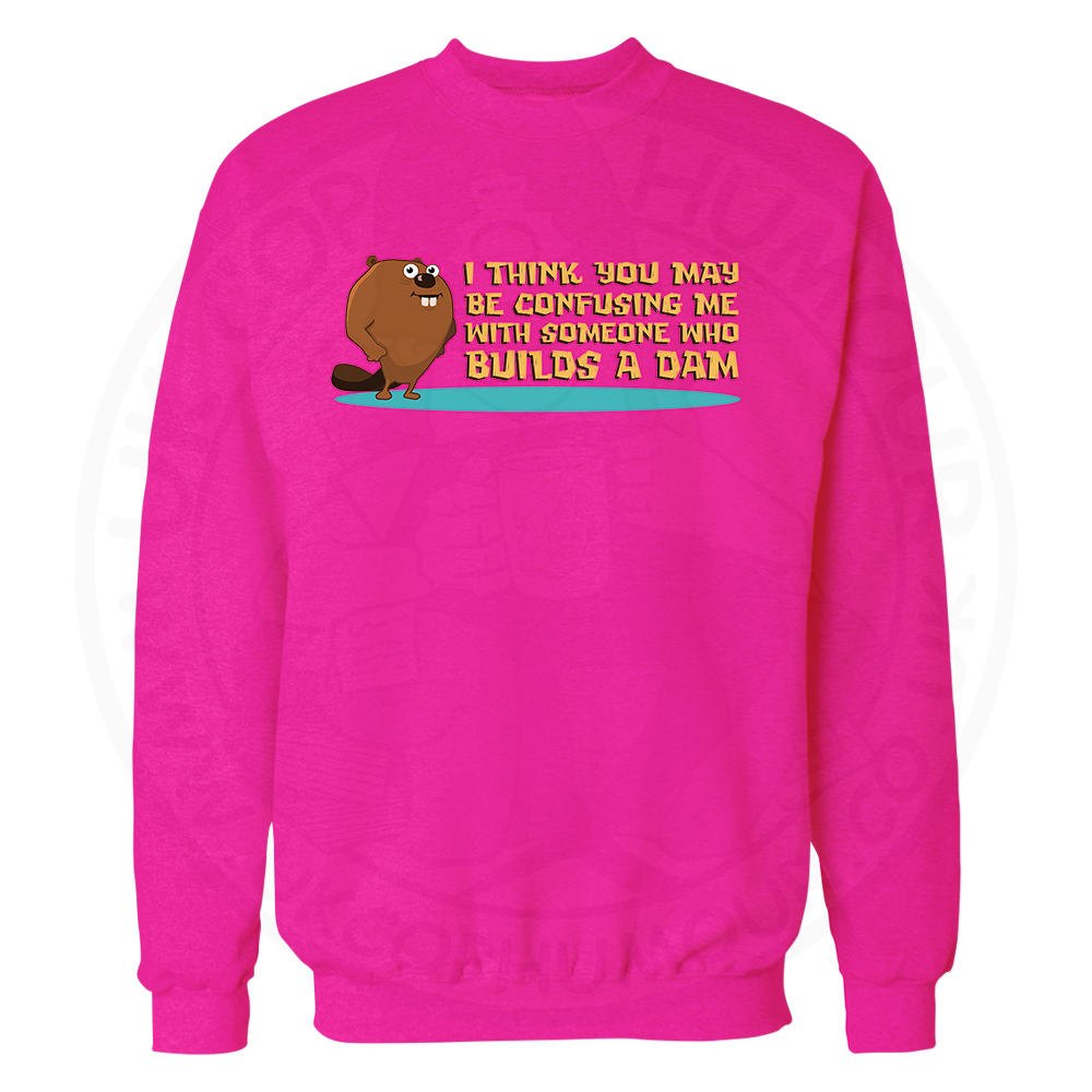 Builds A Dam Sweatshirt - Candy Floss Pink, 2XL