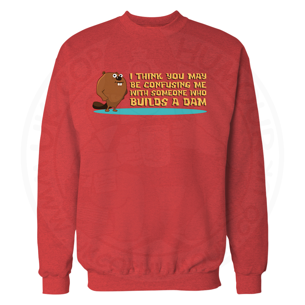 Builds A Dam Sweatshirt - Red, 2XL