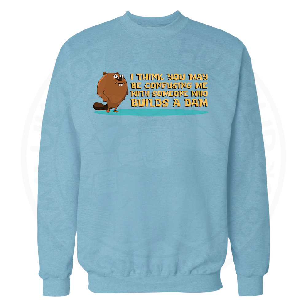 Builds A Dam Sweatshirt - Sky Blue, 2XL