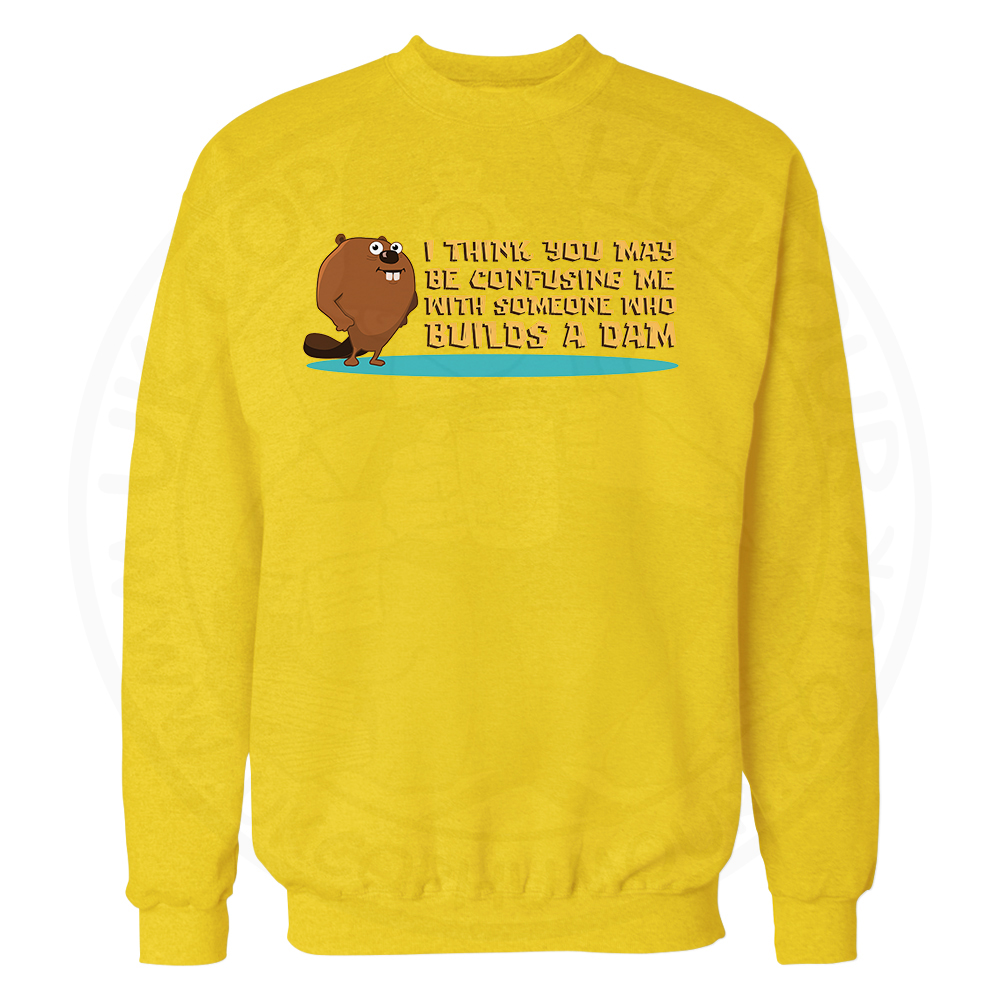 Builds A Dam Sweatshirt - Yellow, 2XL