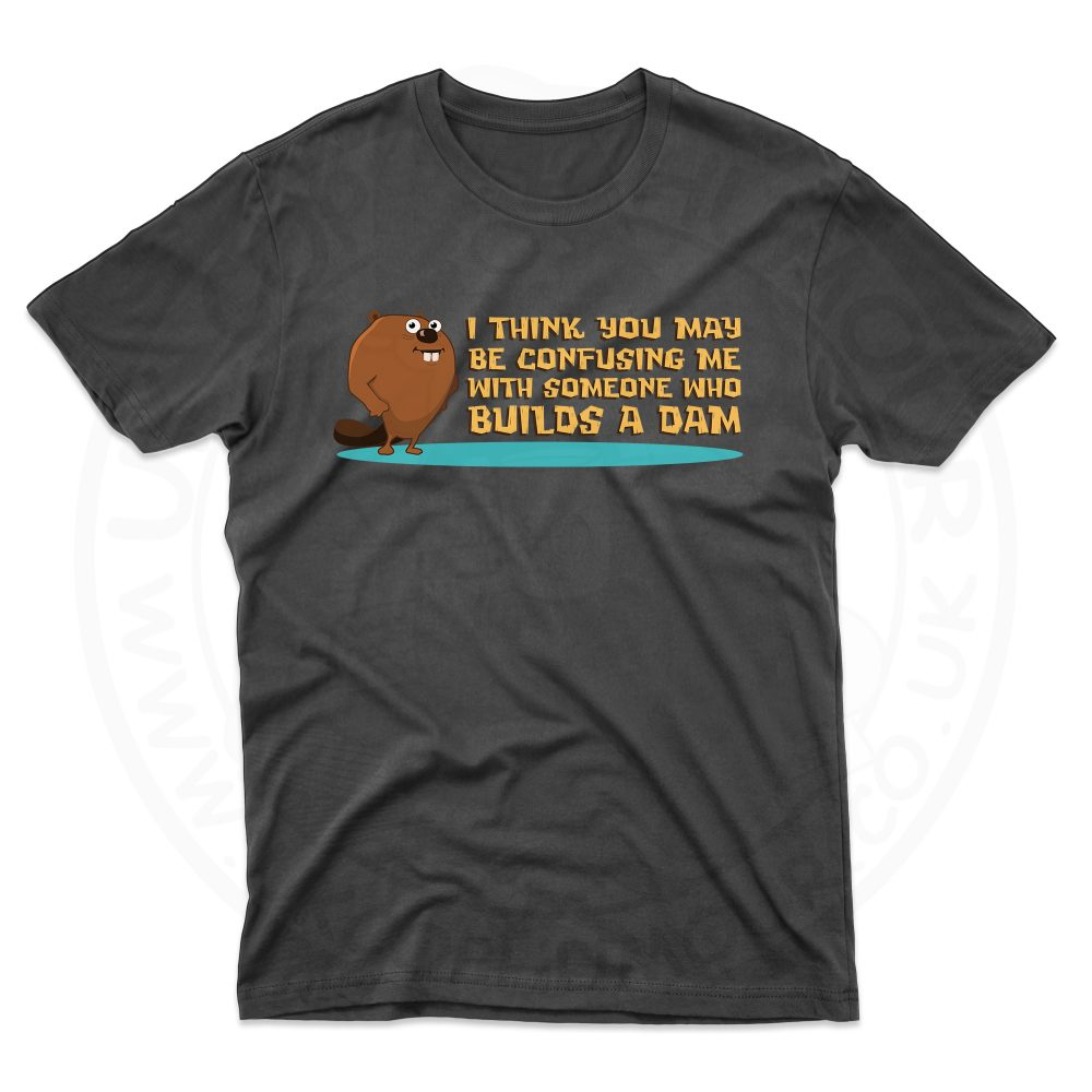 Mens Builds A Dam T-Shirt - Black, 5XL