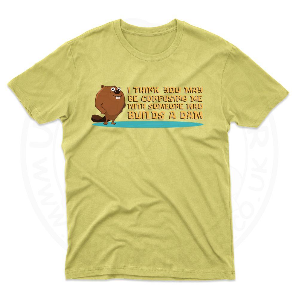 Mens Builds A Dam T-Shirt - Daisy, 2XL