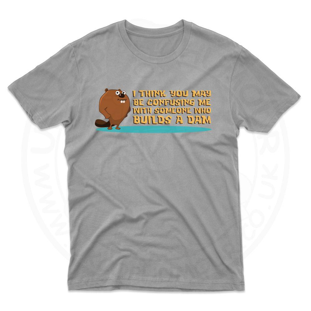 Mens Builds A Dam T-Shirt - Grey, 5XL