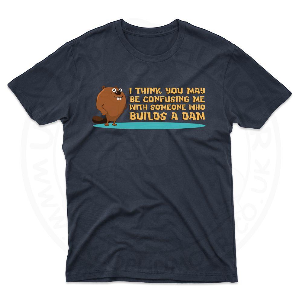 Mens Builds A Dam T-Shirt - Navy, 5XL