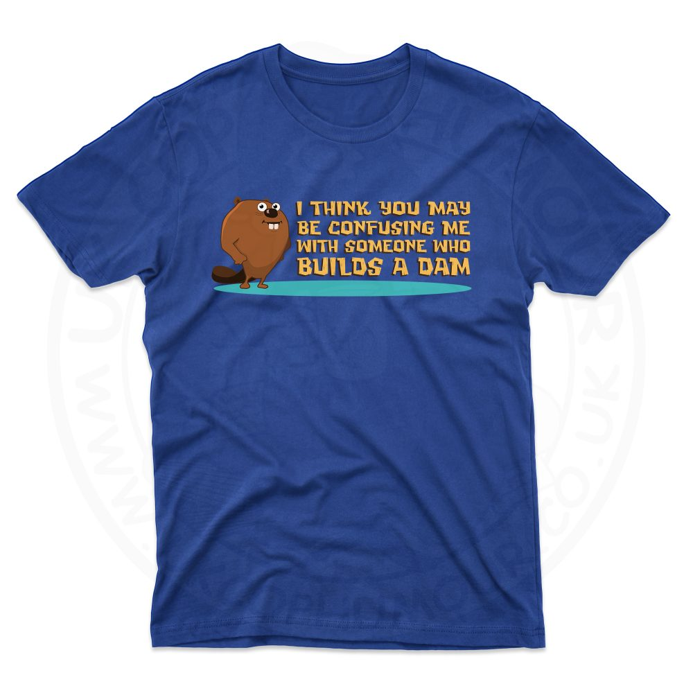 Mens Builds A Dam T-Shirt - Royal Blue, 5XL