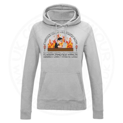 Ladies STRAIGHT TO HELL Hoodie - Grey, 18