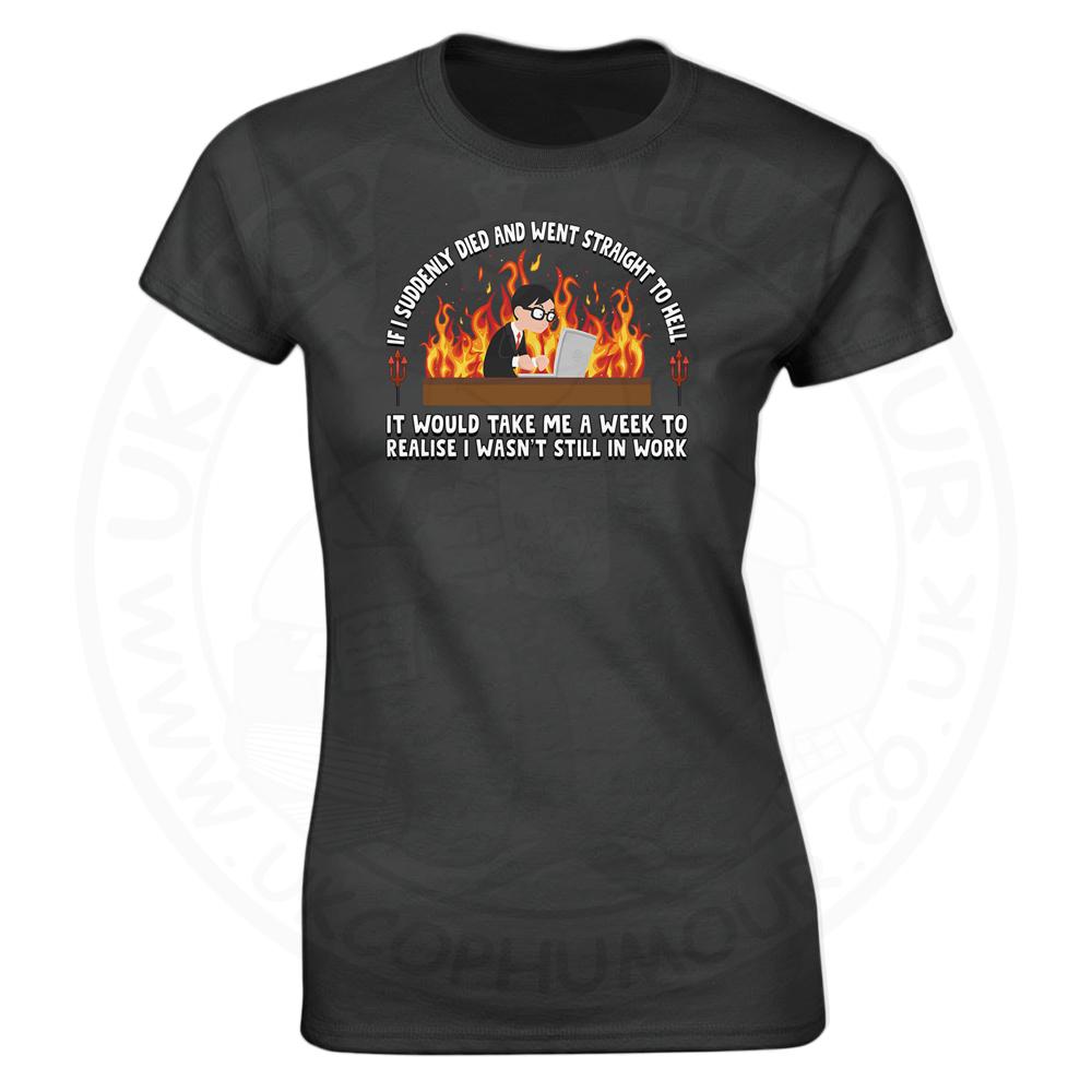 Ladies STRAIGHT TO HELL T-Shirt - Black, 18