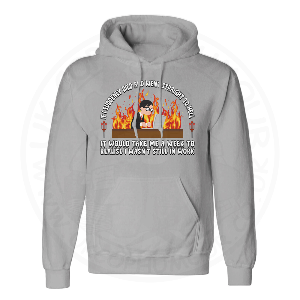 Unisex STRAIGHT TO HELL Hoodie - Charcoal, 2XL
