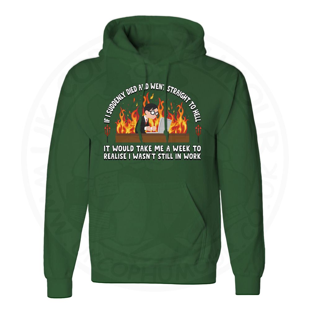 Unisex STRAIGHT TO HELL Hoodie - Forest Green, 2XL