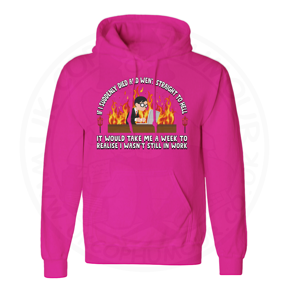 Unisex STRAIGHT TO HELL Hoodie - Hot Pink, 2XL