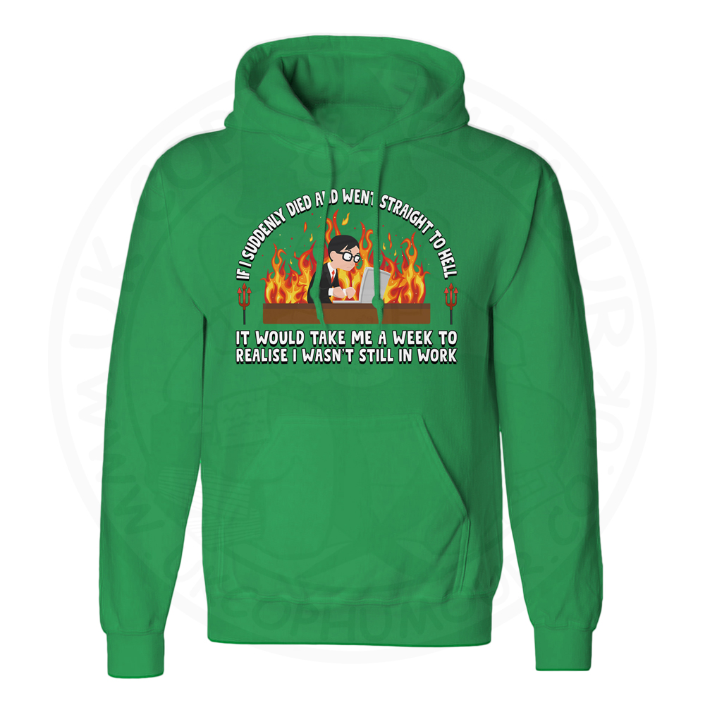 Unisex STRAIGHT TO HELL Hoodie - Kelly Green, 2XL