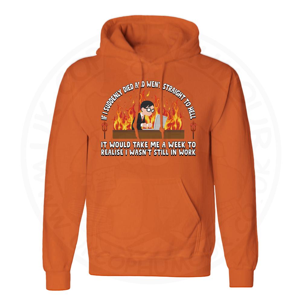 Unisex STRAIGHT TO HELL Hoodie - Orange, 2XL