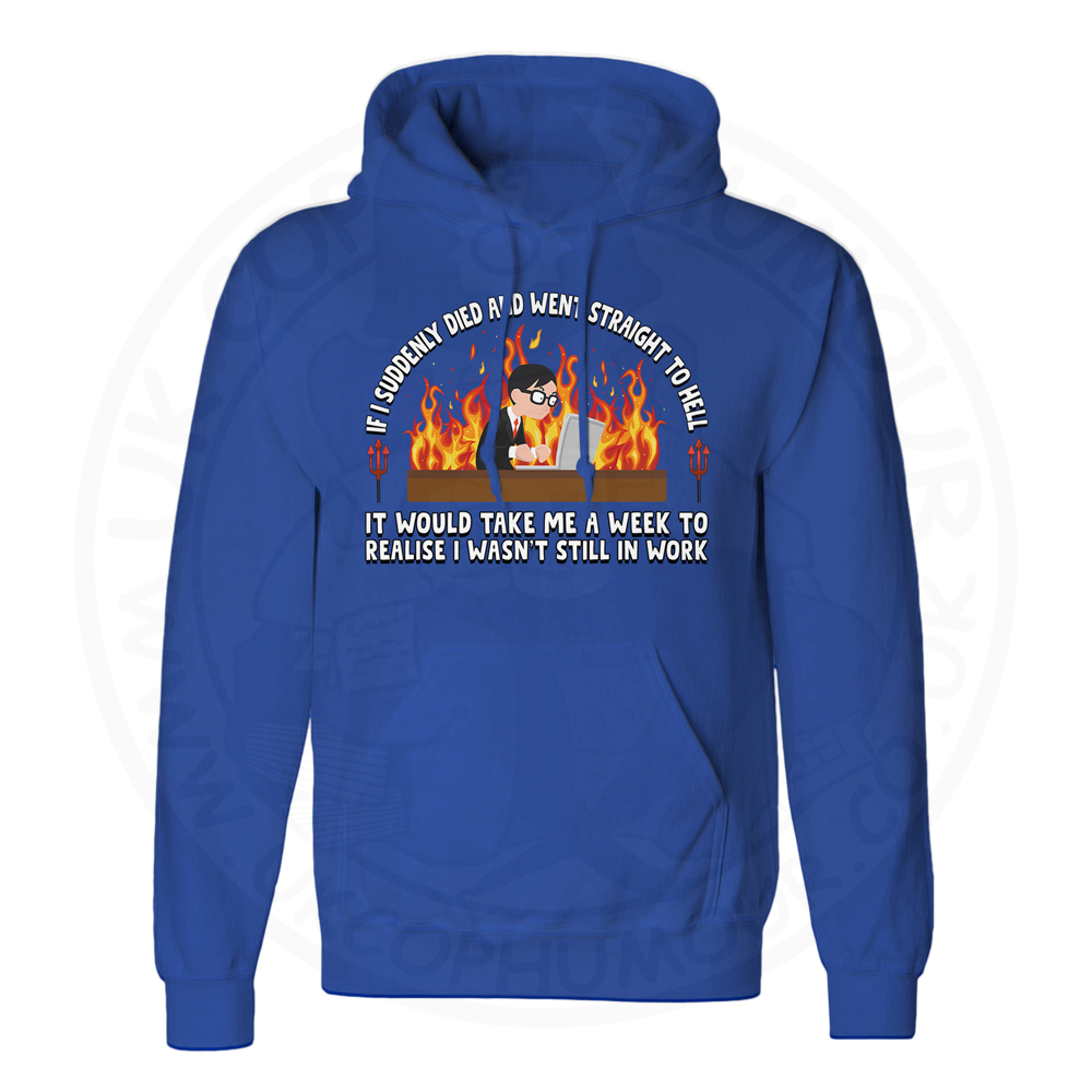 Unisex STRAIGHT TO HELL Hoodie - Royal Blue, 2XL