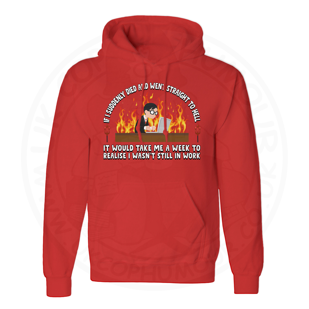 Unisex STRAIGHT TO HELL Hoodie - Red, 3XL