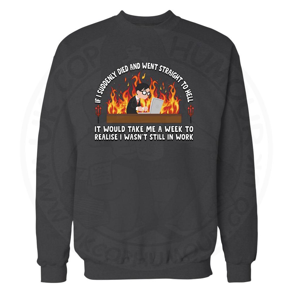 STRAIGHT TO HELL Sweatshirt - Black, 3XL