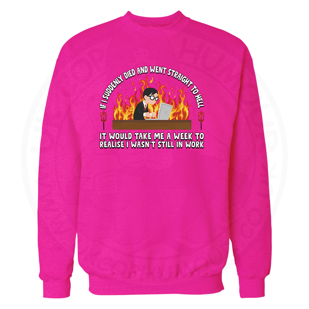 STRAIGHT TO HELL Sweatshirt - Candy Floss Pink, 2XL