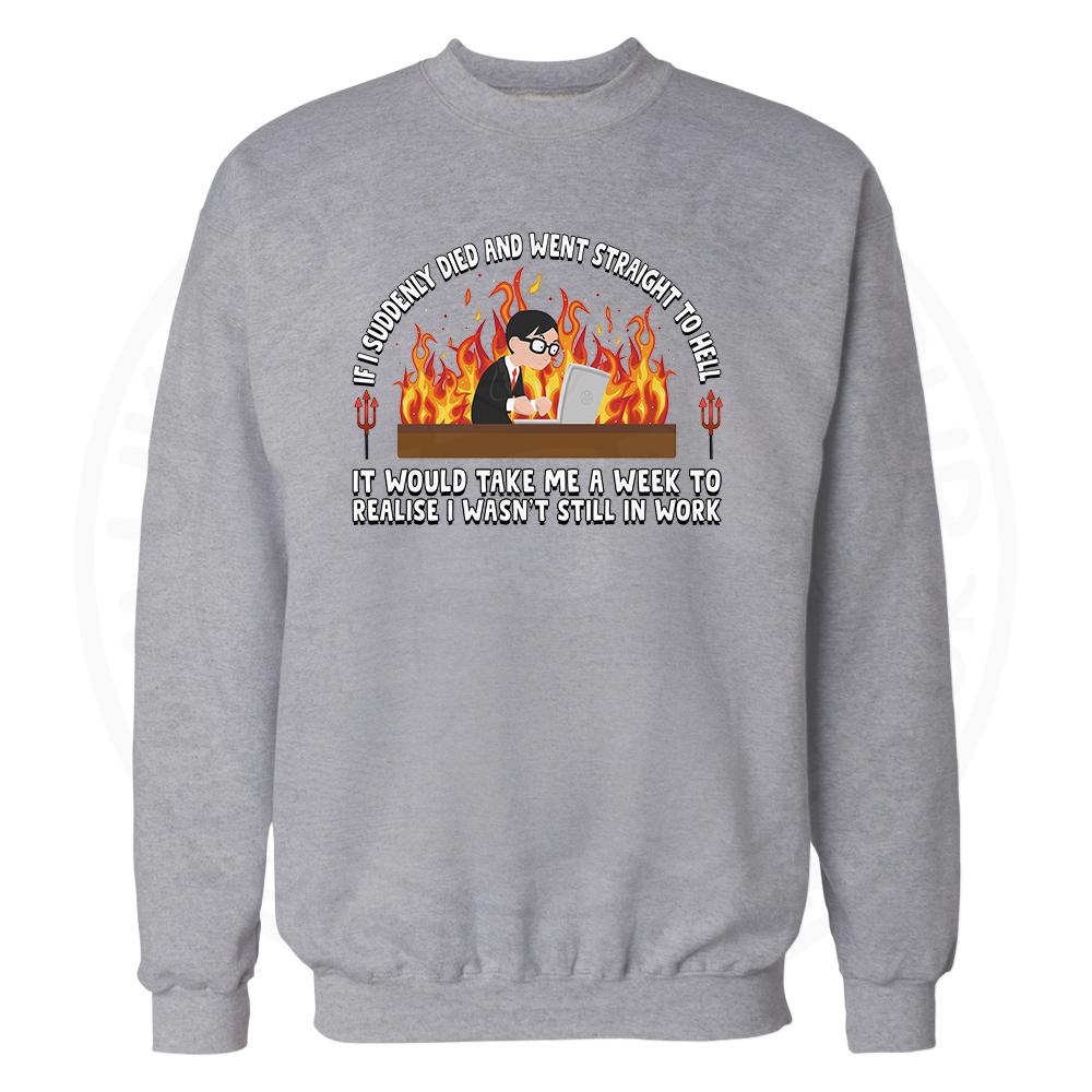 STRAIGHT TO HELL Sweatshirt - Grey, 3XL