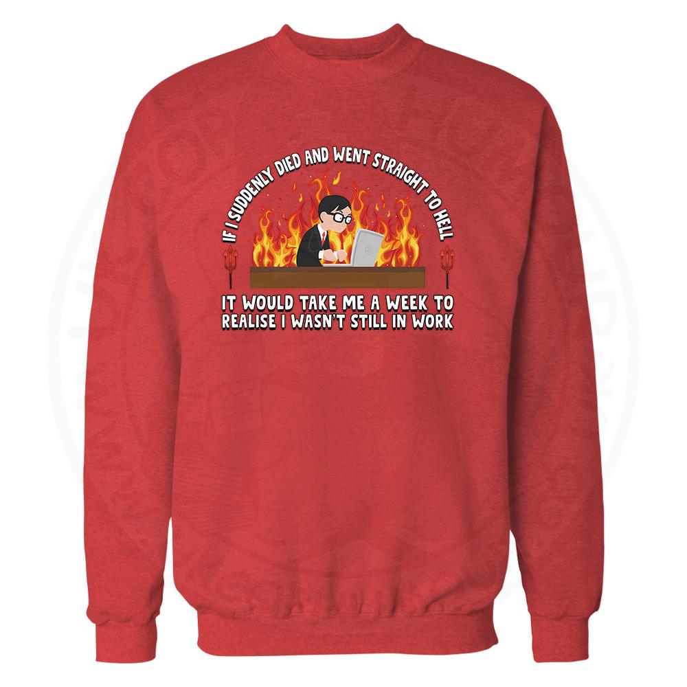 STRAIGHT TO HELL Sweatshirt - Red, 2XL