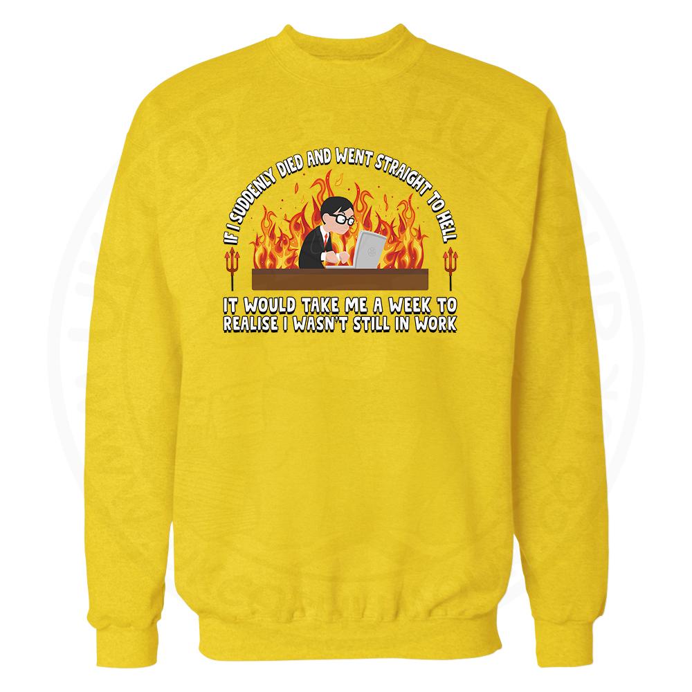 STRAIGHT TO HELL Sweatshirt - Yellow, 2XL