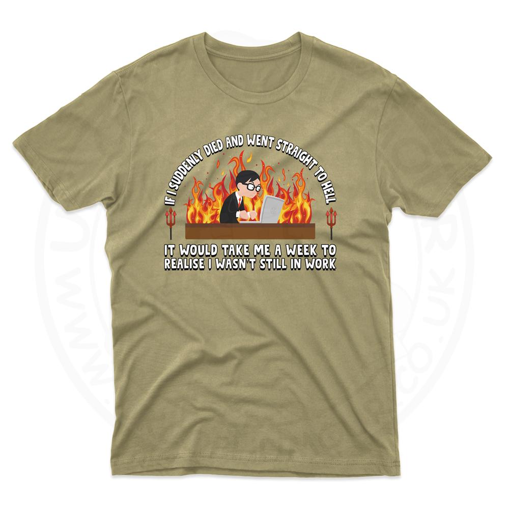 Mens STRAIGHT TO HELL T-Shirt - Desert, 2XL