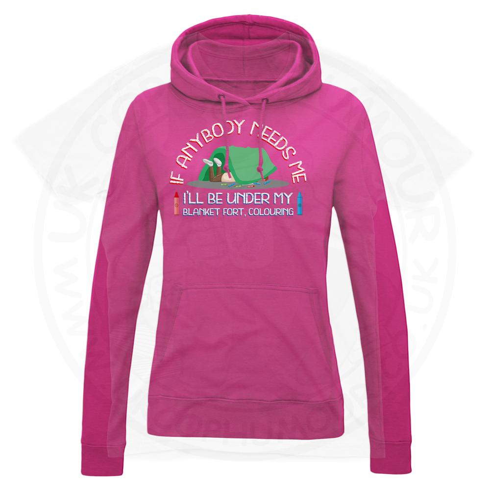 Ladies BLANKET FORT Hoodie - Hot Pink, 18