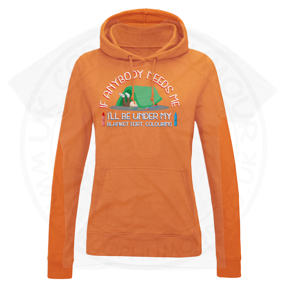 Ladies BLANKET FORT Hoodie - Orange, 18