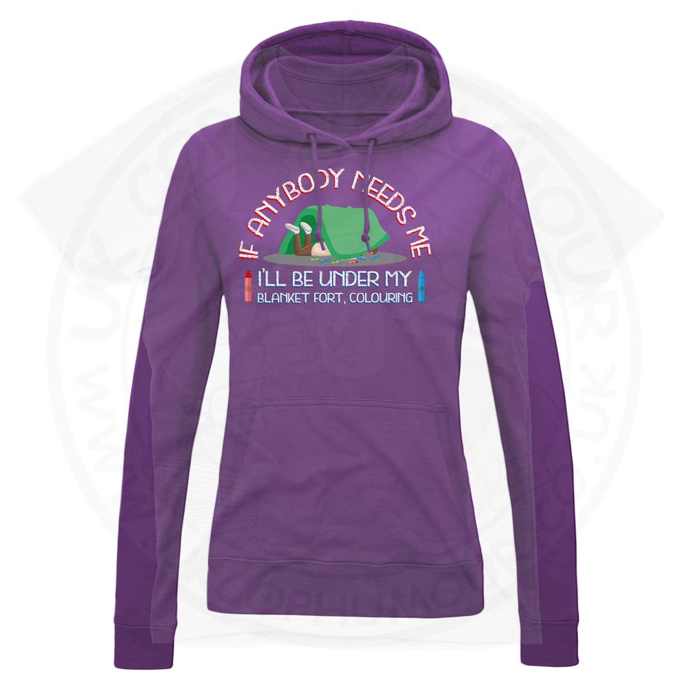 Ladies BLANKET FORT Hoodie - Purple, 18