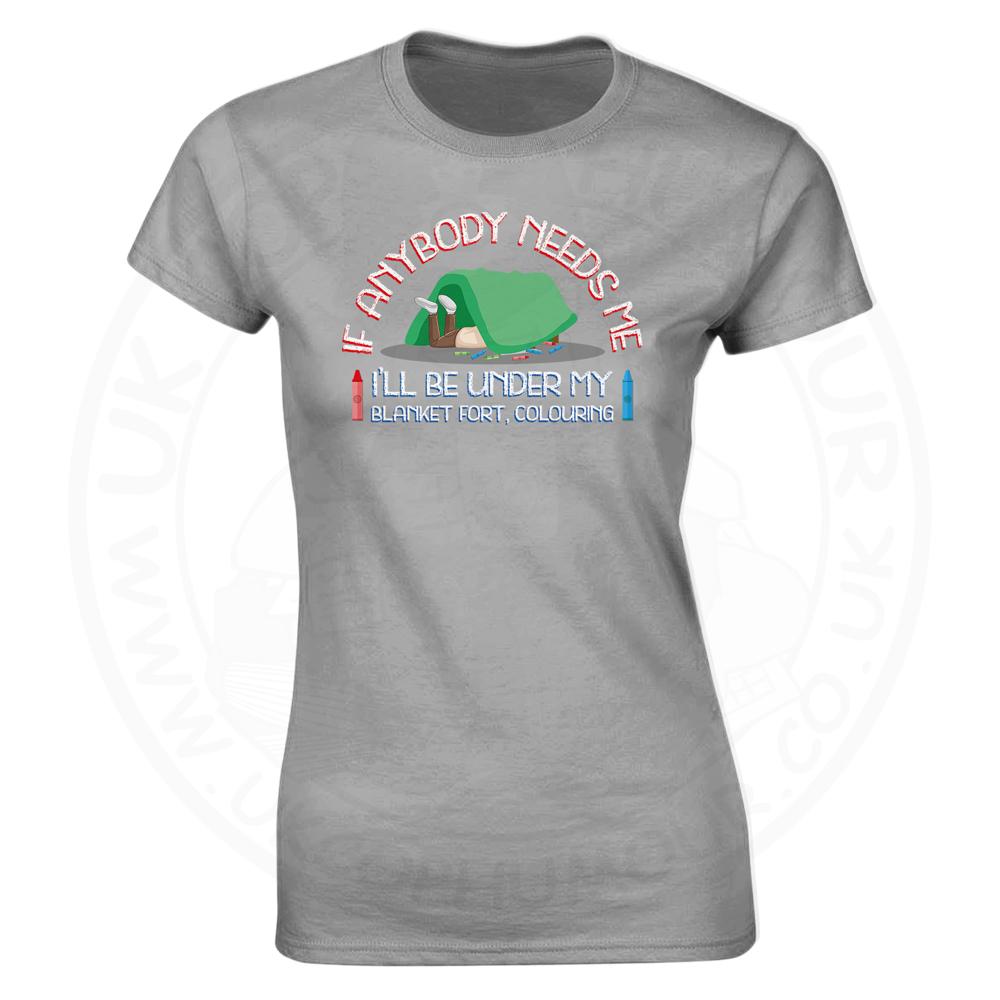 Ladies BLANKET FORT T-Shirt - Heather Grey, 18