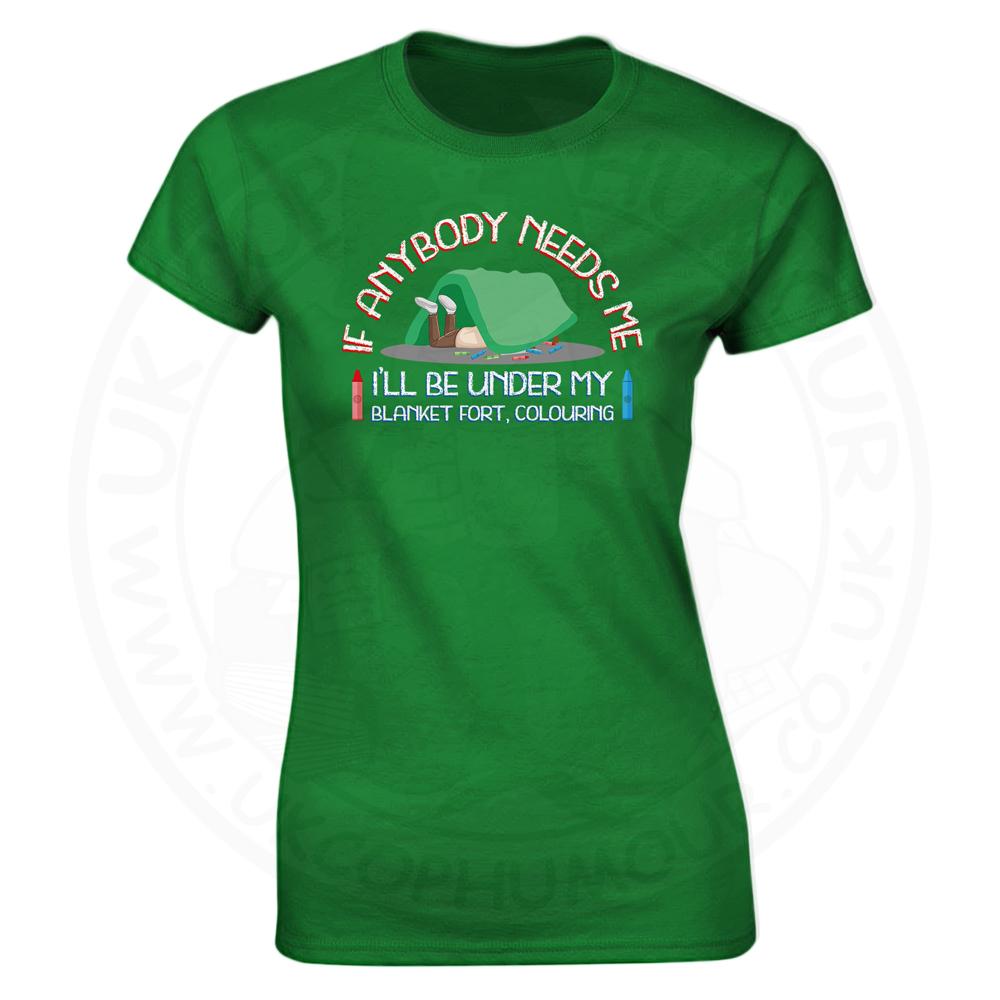 Ladies BLANKET FORT T-Shirt - Kelly Green, 18